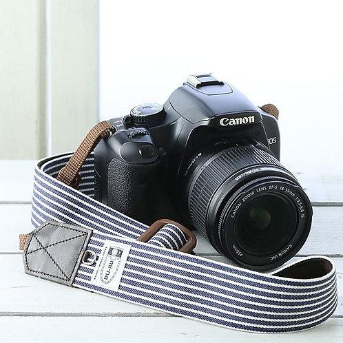 Camera Strap/Indigo stripe