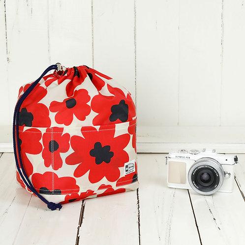 Camera Insert / Red flower