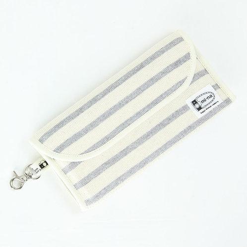 Lens filter case / Gray stripe