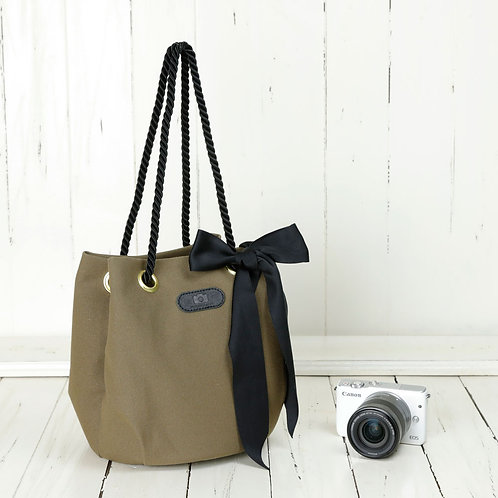 Drawstring Shoulder Camera Bag /Olive