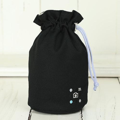 Lens pouch /M size /Needlework black
