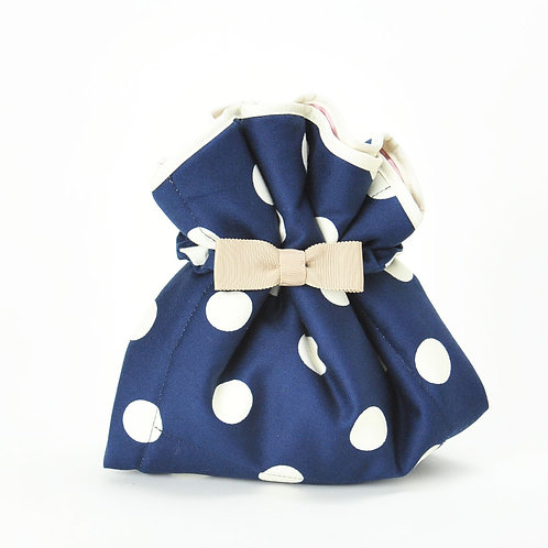 Wrap Cloth / Navy blue dot