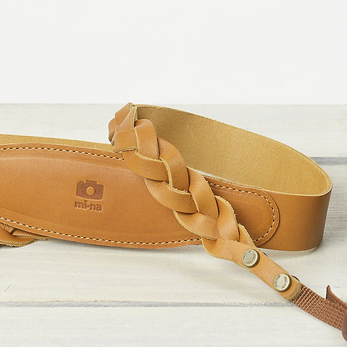 Camera Strap/Braid leathercamel