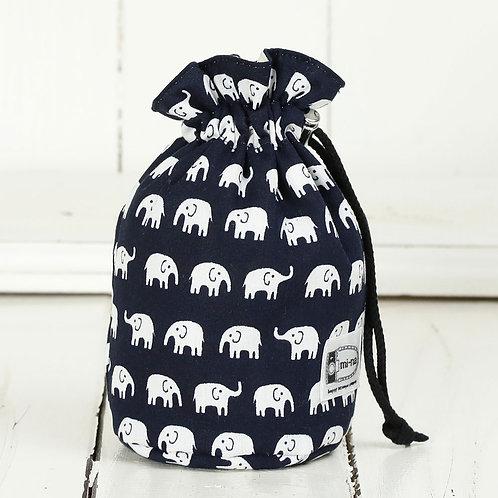 Lens pouch /S size/ Elephants