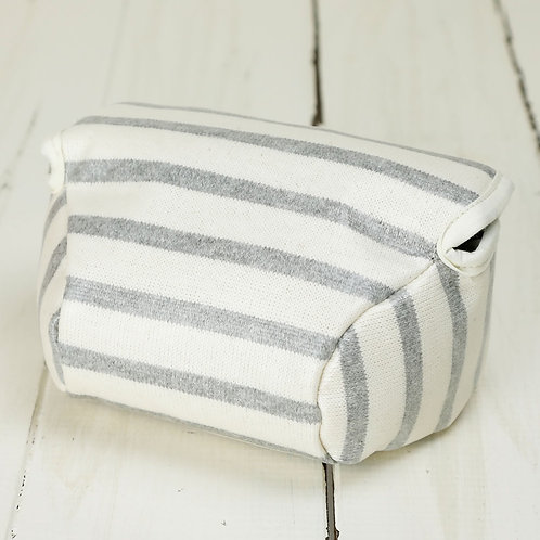 Camera Case/ S size/ Gray stripe