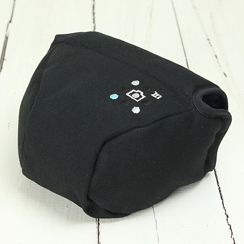 Camera Case/ M size/ Needlework black