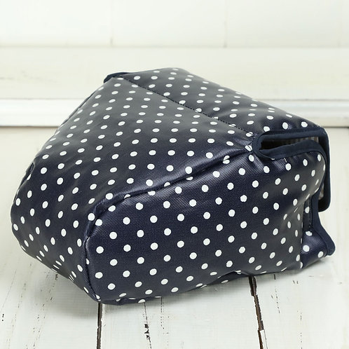 Camera Case/ L size/ Navy blue dot