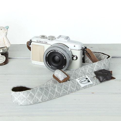 Camera Strap/ Gray jersey