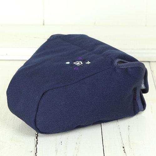 Camera Case/ L size/ Needlework navy blue