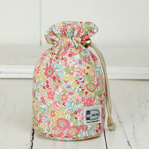 Lens pouch /S size/Pink flower