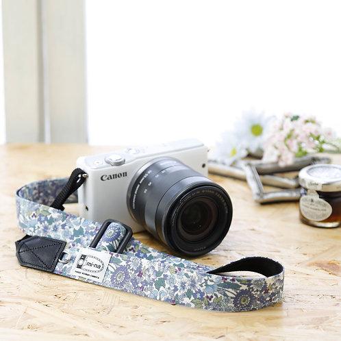 Camera Strap/ Blue flower