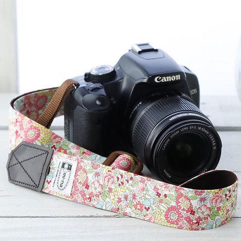 Camera Strap/Pink flower