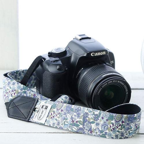 Camera Strap/Blue flower