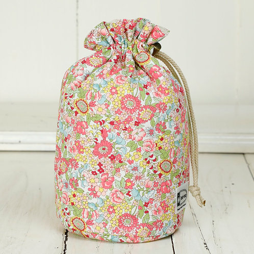 Lens pouch /M size /Pink flower