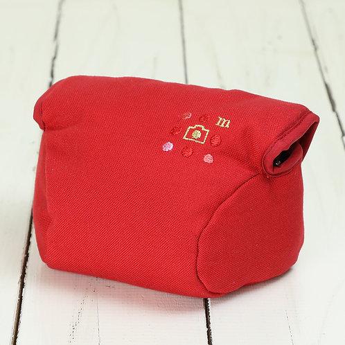 Camera Case/ S size/ Needlework red