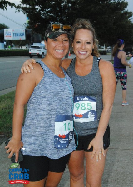 The Rooted Hook finished Crawling Crab 1/2 Marathon STRONG!