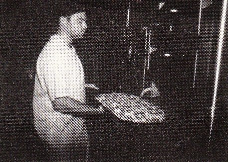 Mike taking a Pie out of the Oven