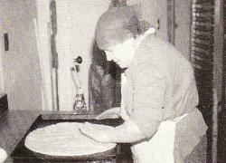 Mama Leonardi Stretching a Pie