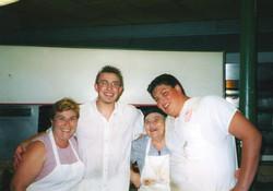 Anne, Silvio, Mama Leonardi and Tony