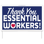 Thank-You Essential Workers Sign