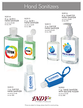 Hand-Sanitizers custom printed labels