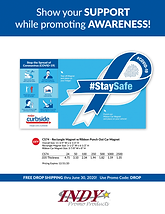 #Stay Safe Awareness-Ribbon Magnet