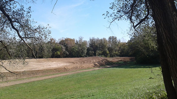 The Dirt Track at Edgewater under construction