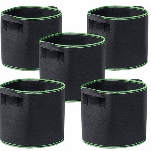 5 Gallon Grow Bags Heavy Duty Aeration Fabric Pots Thickened Fabric Pot