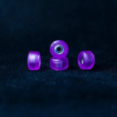Goth fingerboard wheels / Purple Glass - 72D
