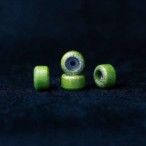 Goth fingerboard wheels / Gold Crystal / Rare - 72D