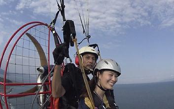 女子モーターパラグライダー体験