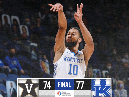 Kentucky Defeats Vanderbilt For Third Win Of The Season