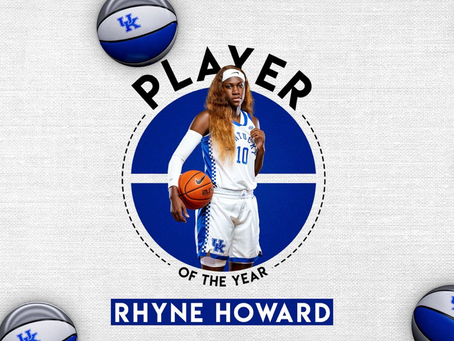 Kentucky WBB's Rhyne Howard Named 2021 SEC POY