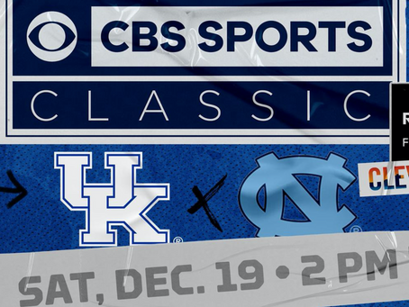 Kentucky To Play UNC In the CBS Sports Classic This Weekend