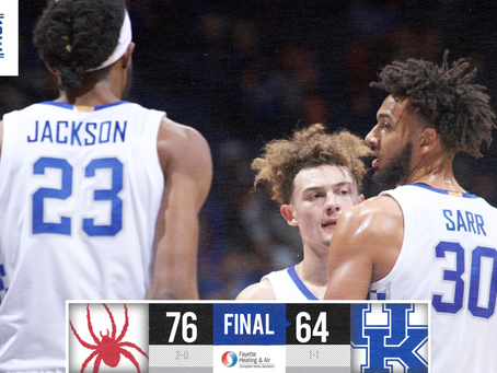 Kentucky loses to Richmond, in just the second game of the season.