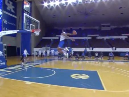 Isaiah Jackson takes flight during Big Blue Madness
