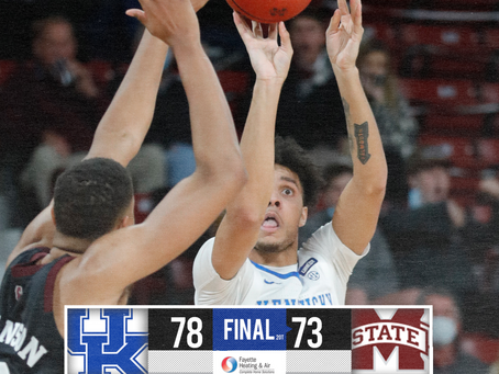 Kentucky defeats Mississippi State, 78-73.
