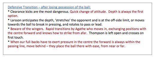 A report that Andre Villas-Boas created about Celtic for Jose Mourinho ahead of the 2003 UEFA Cup final. This document is what he wrote about Celtic's defensive transition after losing possession of the ball