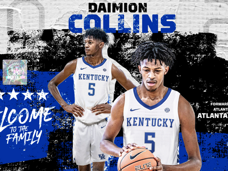 Daimion Collins officially signs with Kentucky.