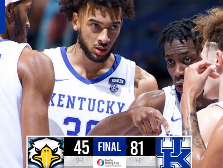 Kentucky Basketball starts the season off 1-0