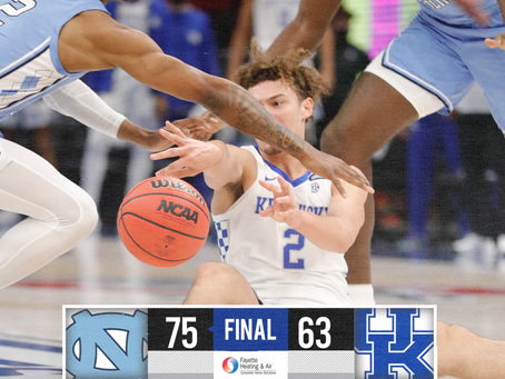 Kentucky Loses To North Carolina In the CBS Sports Classic