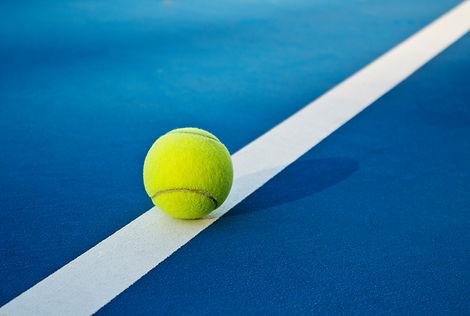 Tennis game. Tennis balls on the tennis
