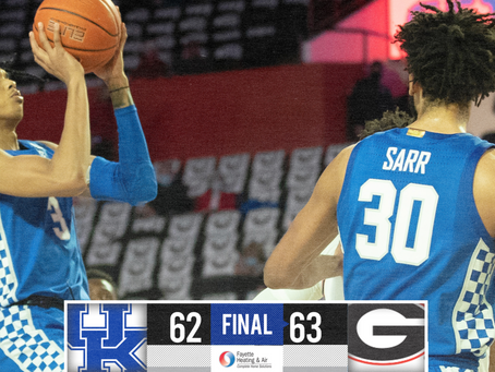 Kentucky Loses To Georgia On a Buzzer-Beating Layup.