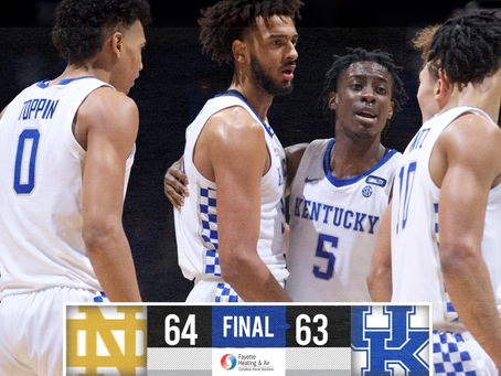 Kentucky Drops Their Fourth Straight Game In Loss vs Notre Dame