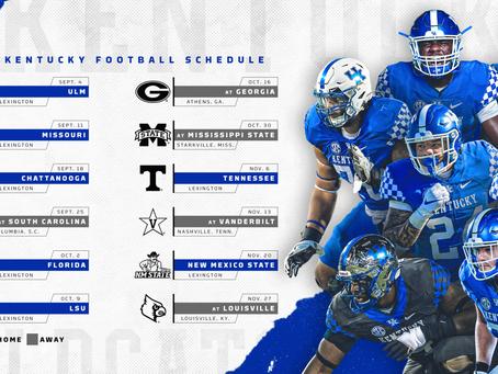 Kentucky Releases Their 2020-21 Football Schedule