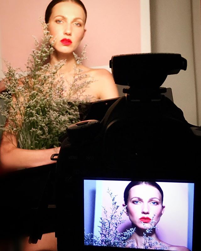 #bts of today's kick ass beauty shoot!  With _irynazaritskaya _hdpphotography thank you for such a f