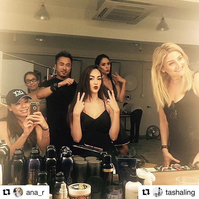 #Repost _ana_r_・・・_#Repost _tashaling with _repostapp_・・・_The #glamsquad _rosskwan _smudgemakeuparti