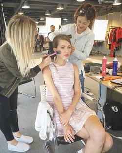 On set today with this girl _irynazaritskaya 💗 #bts #behindthescenes #onset #photoshoot #lookbook #