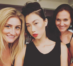 These beautiful women! _angiengcl _awildemua #sundayatworkbelike #ilovemyjob❤️ #redlips #supermodel