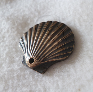 coquillage bronze patiné
